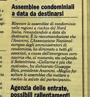 L'EMERGENZA CODIV-19 IMPONE IL BLOCCO DELLE ASSEMBLEE CONDOMINIALI